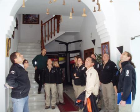 Participantes en la visita guiada (Foto: http://museodelapiel.blogspot.com.es).