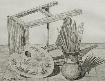 Sillas. Dibujo de Juan Chacón Coronil