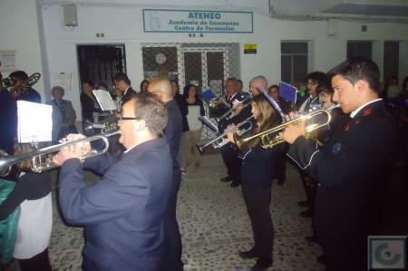 La Agrupación Musical Ubriqueña, por la calle Toledo.