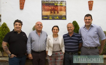 Autores premiados en el II Concurso de Poesía 'La Ubriqueña'.