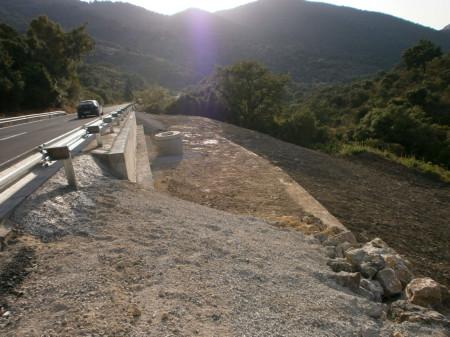 Tramo de carretera abierto tras las obras de emergencia.