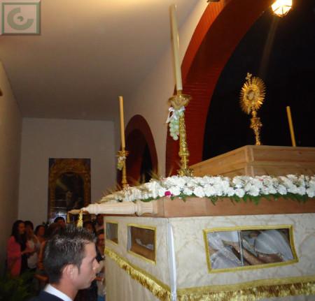 Entrada de la procesión en la iglesia del Convento.