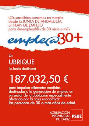 Cartel divulgado por el PSOE en wu web.