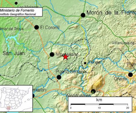 Mapa de repercusión del sismo (Instituto Geográfico Nacional).