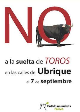 Cartel del Partido Animalista.
