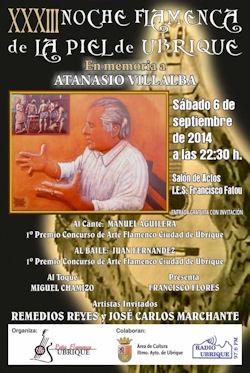 Cartel del concurso flamenco.