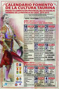 Cartel de la competición taurina.