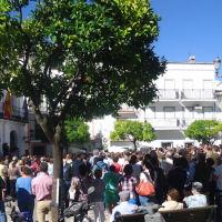 Concnetración en la Plaza del Ayuntamiento.
