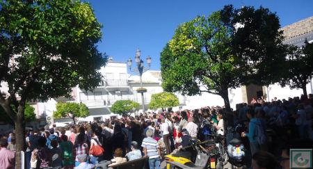 Concentración en la Plaza del Ayuntamiento.