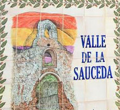 Azulejo del Valle de la Sauceda en el cementerio rehabilitado.