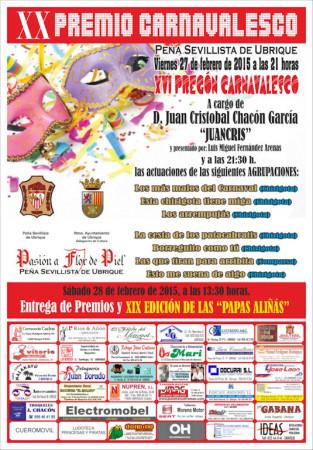 Cartel de la XX Noche Carnavalesca