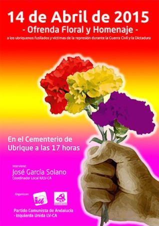 Cartel del acto del 14 de abril.