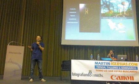 Andrés M. Domínguez, durante su intervención.
