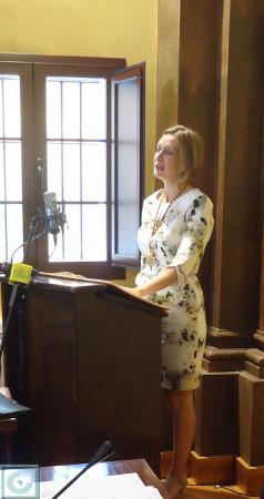 Isabel Gómez, al tomar posesión de su concejalía.