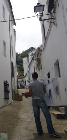 Pintores en la calle Pozuelo.