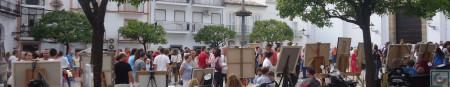 Cuadros expuestos en La Plaza.