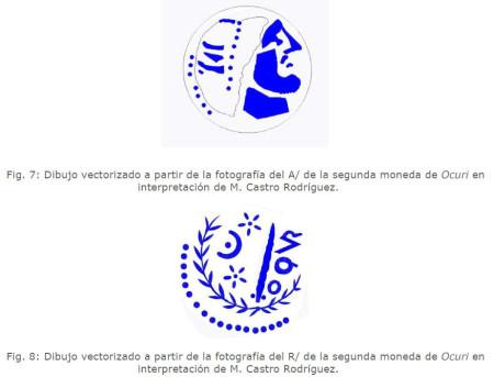Dibujo vectorizado de la segunda moneda de Ocuri.