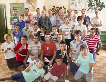 Los premiados en el torneo de ajedrez.
