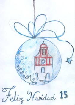 "Primer premio del XXV Concurso de Christmas ""Casa de la Juventud"", obra de Carmen Llucia Ordóñez."