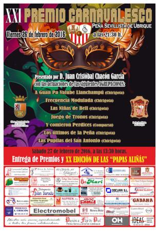 Cartel del Carnaval de la Peña Sevillista.
