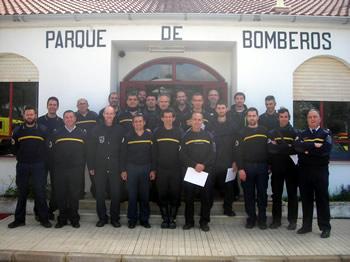 Bomberos participantes.