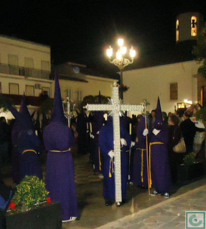 Penitentes del Santo Entierro, en La Plaza.