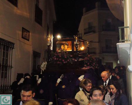 La sagrada urna, tras salir de La Plaza.