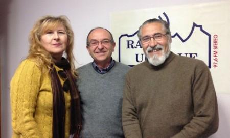 Pepi Morales Girón, Miguel González y José García Solano.