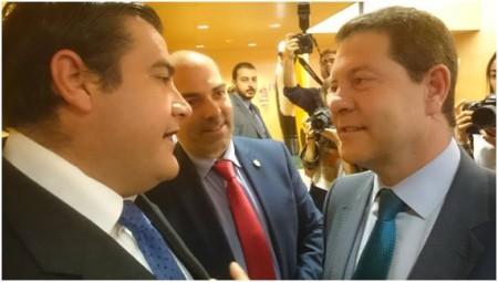 José Pulido y Manuel Ángel Chacón, con Emiliano García-Page.