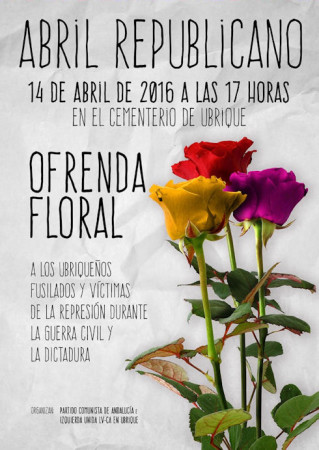 Cartel de la ofrend floral.