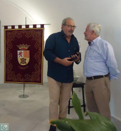 El pintor Antonio Rodríguez Agüera y el escritor Antonio García Barbeito.