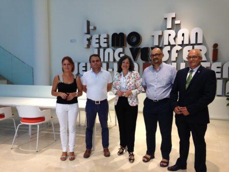 Ángeles Sánchez, Cristóbal de Piña, Maribel Peinado, Javier Cabezas y Juan Antonio Fernández.