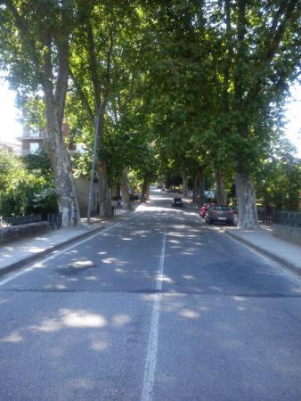 Allariz, avenida de entrada (Foto: Pedro Bohórquez).