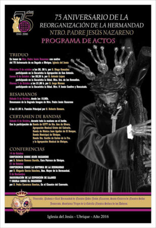Cartel del programa de actividades.