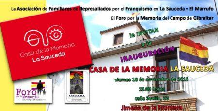 Cartel anunciador de la inauguración.