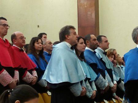 Antonio Morales Benítez, durante la ceremonia.