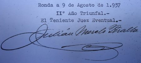 Firma del teniente juez eventual.