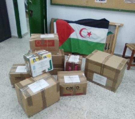 Material para saharauis.