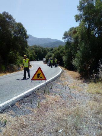 Obras en la carretera A-373.