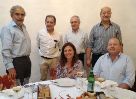 Miembros del jurado, con los consejeros delegados de Sanchez Romate.