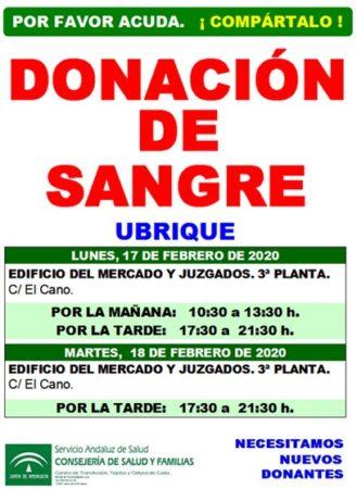 Cartel del llamamiento a la donación de sangre.