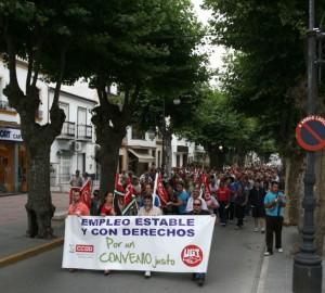 La manifestación de marroquineros, por Los Callejones, el 9 de junio de 2011 (Foto: Rami)