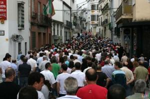 La manifestación de petaqueros, por la calle Moreno de Mora, el 9 de junio de 2011 (Foto: Rami)