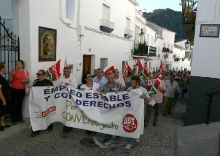 Manifestación del 14 de junio de 2011 por la calle Torre