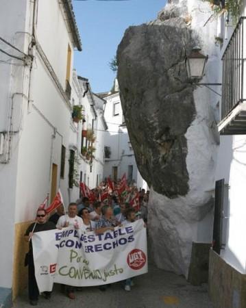 Manifestación del 14 de junio de 2011 por el Peñón de la Becerra