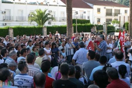 Los manifestantes, en el Jardín el 14 de junio de 2011