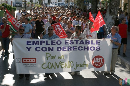La manifestación del 16 de junio de 2011, al comienzo de Los Callejones