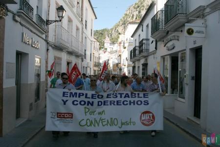 La manifestación del 16 de junio de 2011, por la calle San Sebastián
