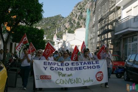 La manifestación del 16 de junio de 2011, por la calle Ingeniero Juan Romero Carrasco