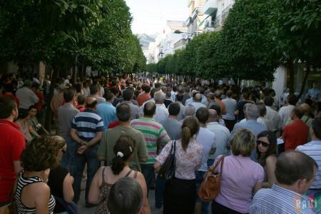 La manifestación del 16 de junio de 2011, en la avenida de España
